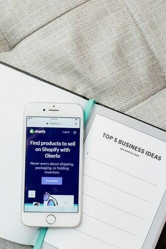 adding products on cell phone